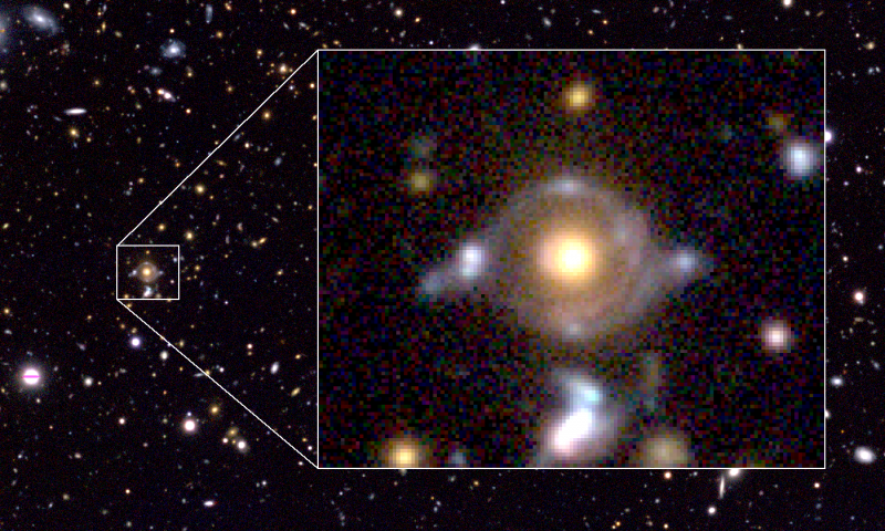 Subaru Telescope Maunakea find new, ancient source of gravitational lensing with Student Help