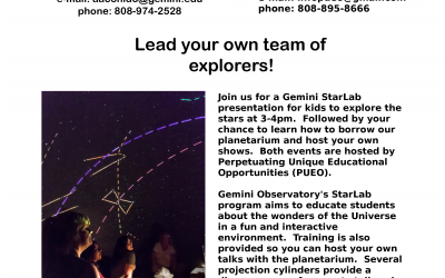 PUEO Hosts Astronomy event with Gemini Telescope Staff