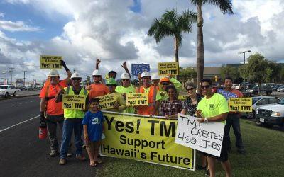 Sign Waving Success!  Hearing Underway Today.