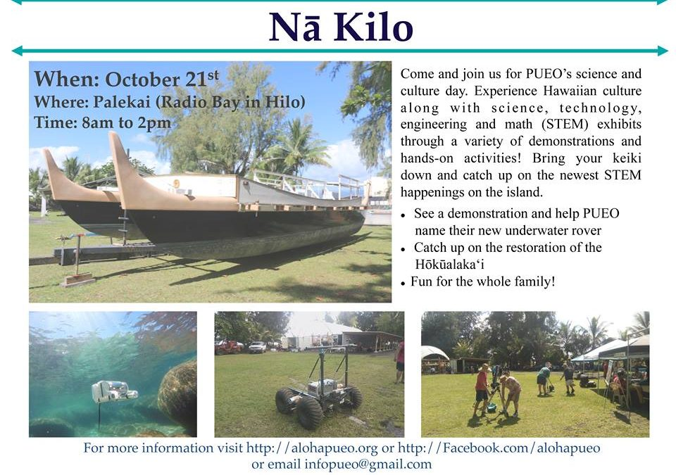 Nā Kilo Event at Palekai is on for Oct. 21!